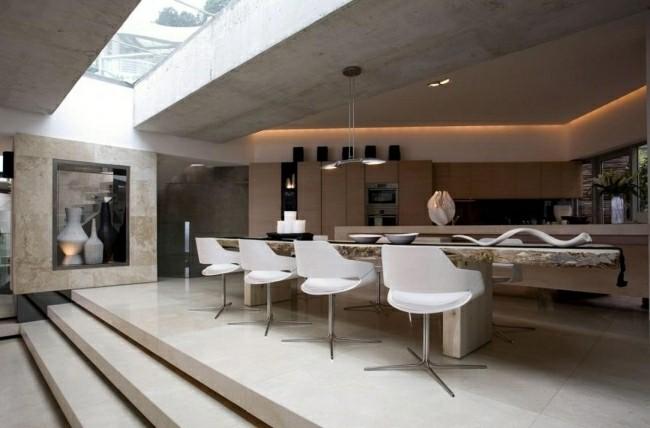 cocina mesa comedor estilo moderno