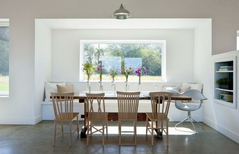 mesa comedor interiores casa lampara