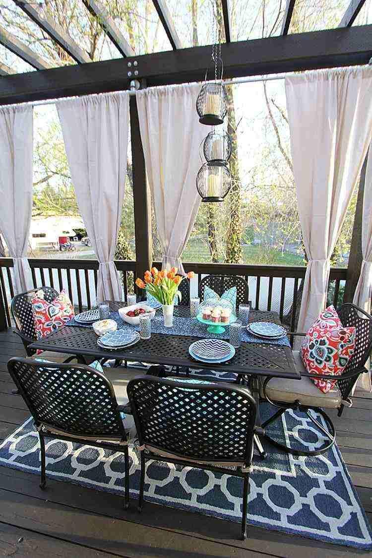 muebles comedor jardin pergola madera