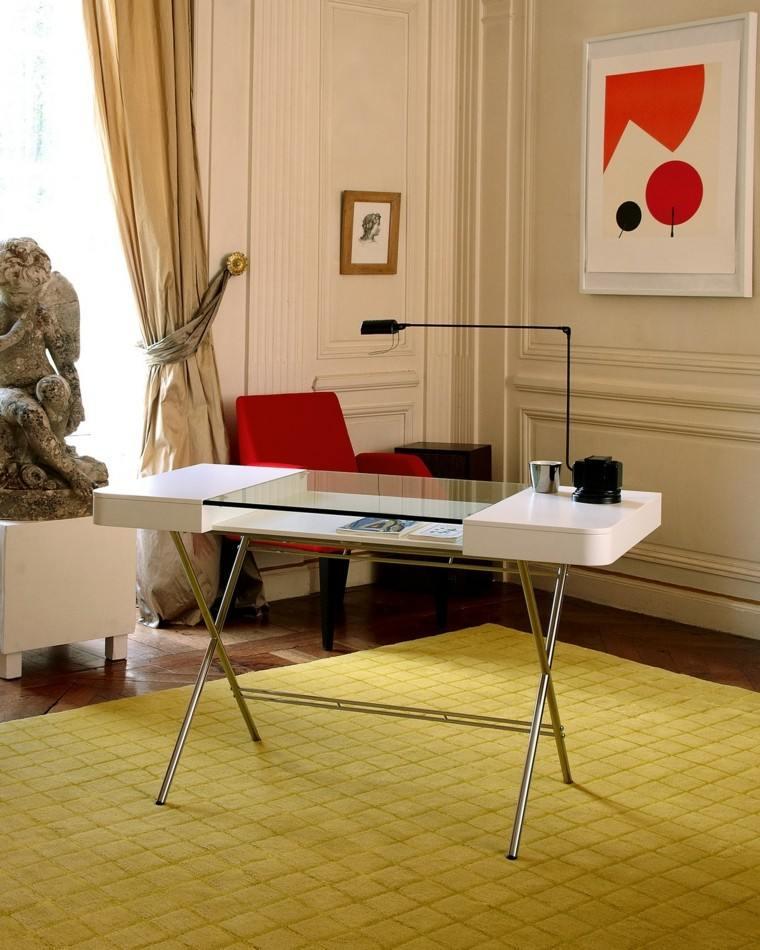 mesa despacho diseño moderno adentro