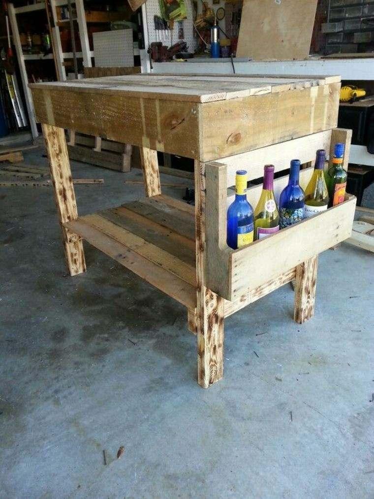 mesa alta diseño casero palet