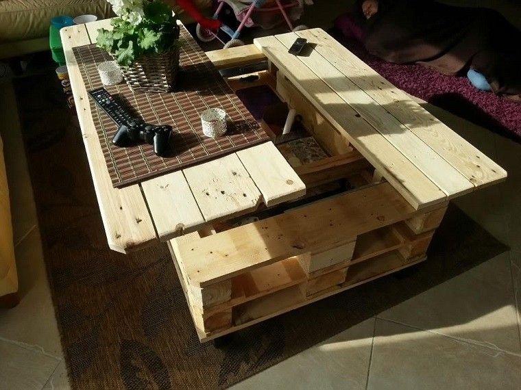 mesa extensible pallets madera