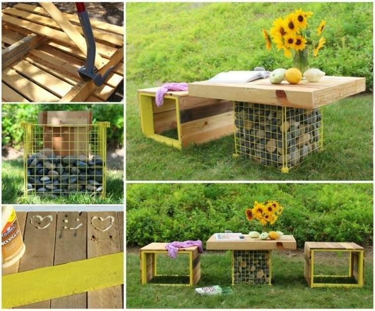 mesa jardin cajas de madera