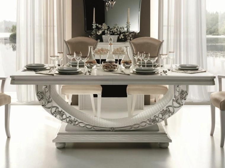 Mesas comedor ideas de madera elegancia y estabilidad for Modelos de mesas de comedor modernas