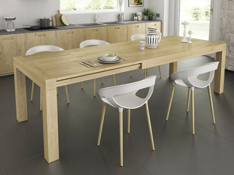 Mesas comedor ideas de madera elegancia y estabilidad for Mesas para muebles modernas