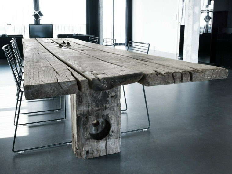 mesa madera comedor madera natural original ideas