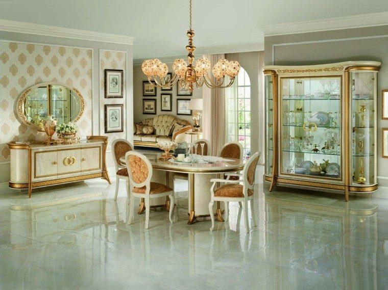 mesa madera comedor muebles armario puertas cristal ideas