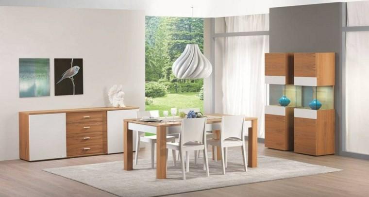 mesa madera comedor muebles cuadros decorativos ideas