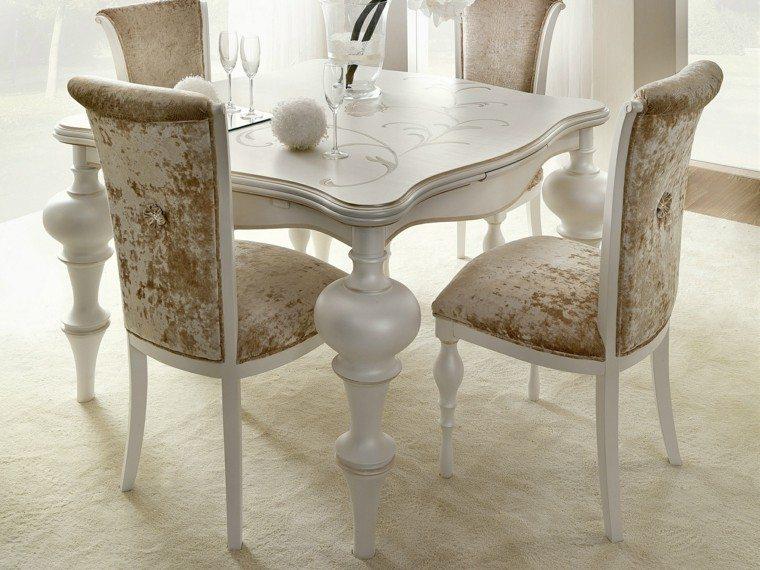 mesa madera comedor pequeno lujoso elegante ideas