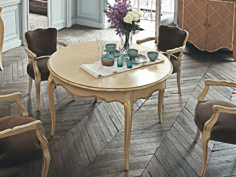 Mesas comedor ideas de madera elegancia y estabilidad - Mesa comedor redonda madera ...