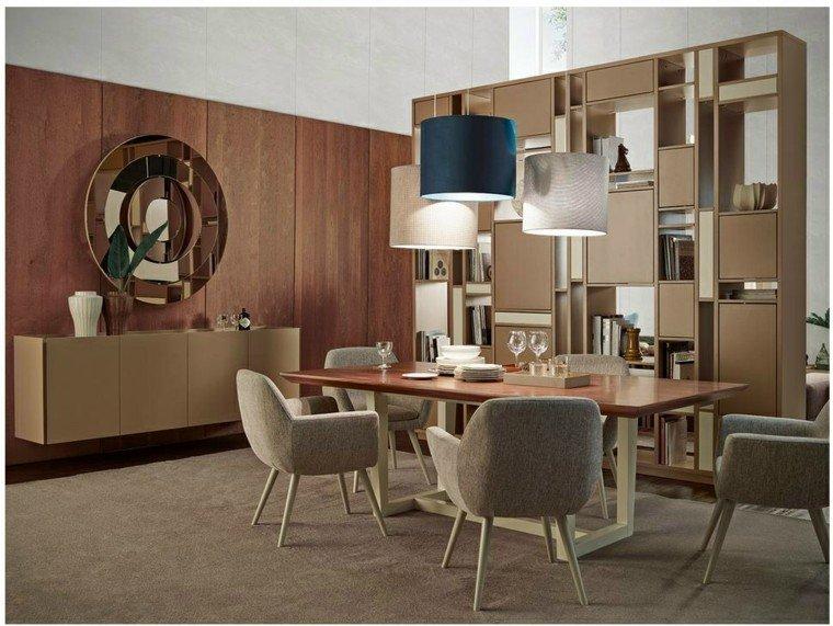mesa madera comedor sillas grises comodas ideas