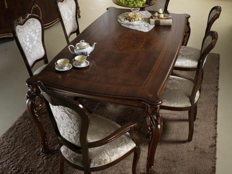 Mesas comedor ideas de madera elegancia y estabilidad for Sillas para mesa de comedor