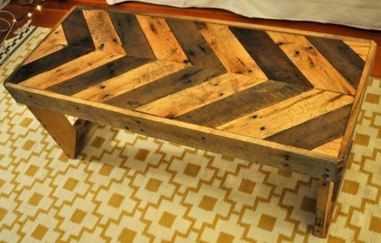 Cajas de madera usadas para fabricar muebles 75 ideas - Mesas palets madera ...