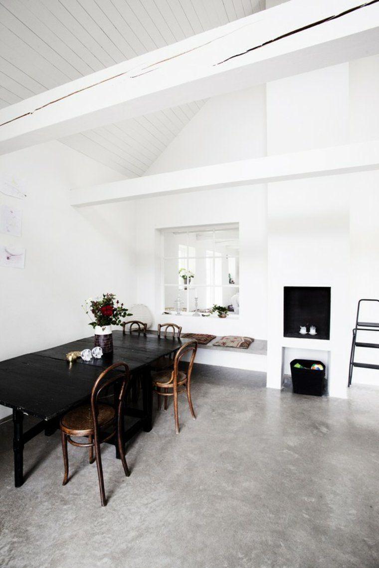 mesa maderna lacada negra barnizada