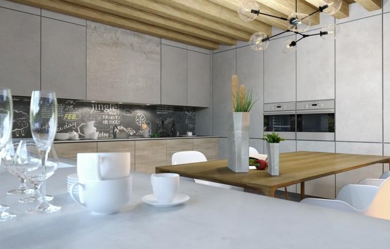 mesa techo vigas madera