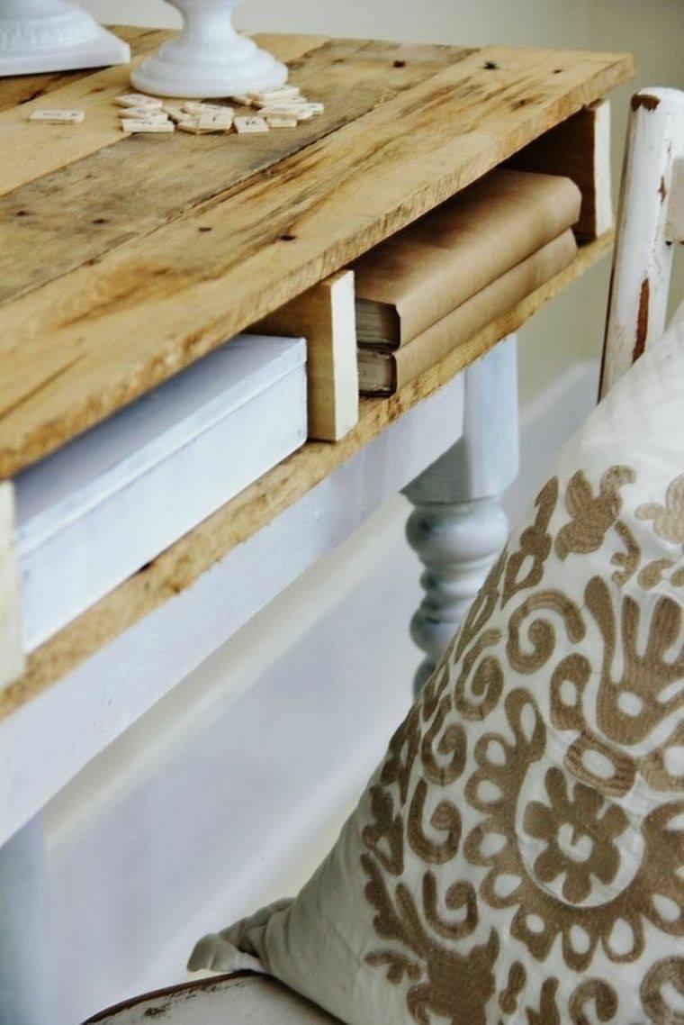 Cajas de madera usadas para fabricar muebles 75 ideas - Mesas de palets de madera ...