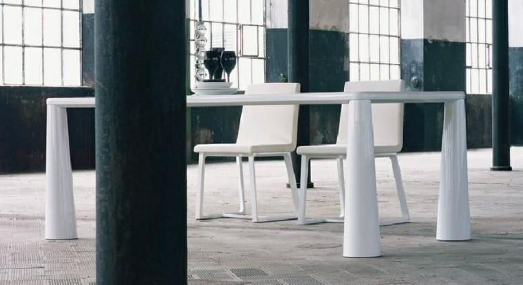 mesas comedor madera elegantes blanca solida ideas