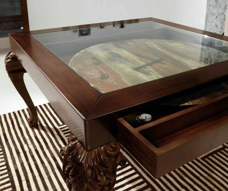mesas comedor madera elegantes estilo barroco ideas
