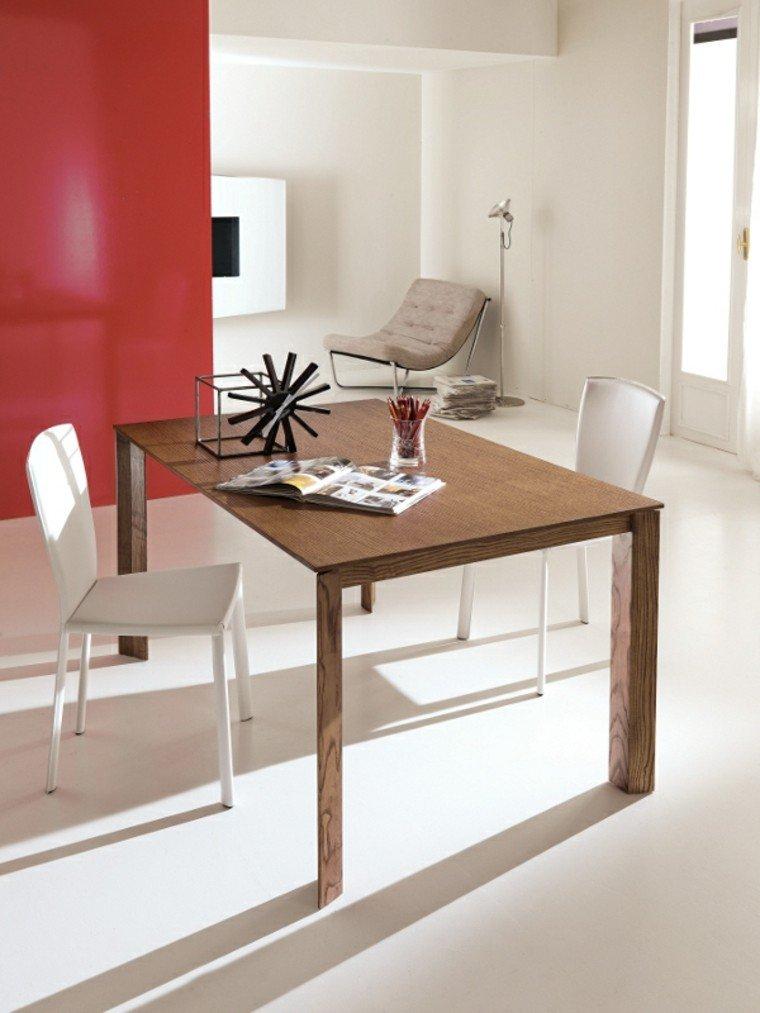 mesa madera elegantes pequena bonita ideas