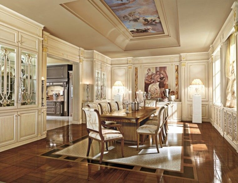 Mesas comedor ideas de madera elegancia y estabilidad - Comedores grandes ...