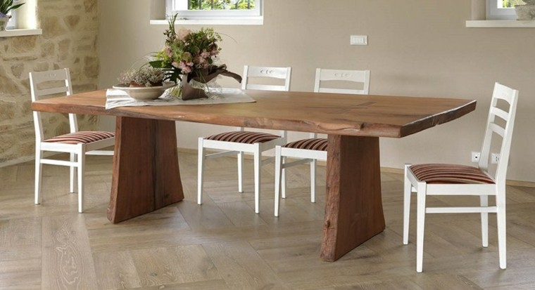 Mesas comedor ideas de madera elegancia y estabilidad - Mesa comedor madera ...