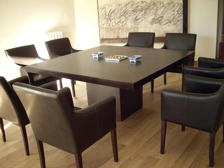 Mesas comedor ideas de madera elegancia y estabilidad for Modelos de mesas cuadradas