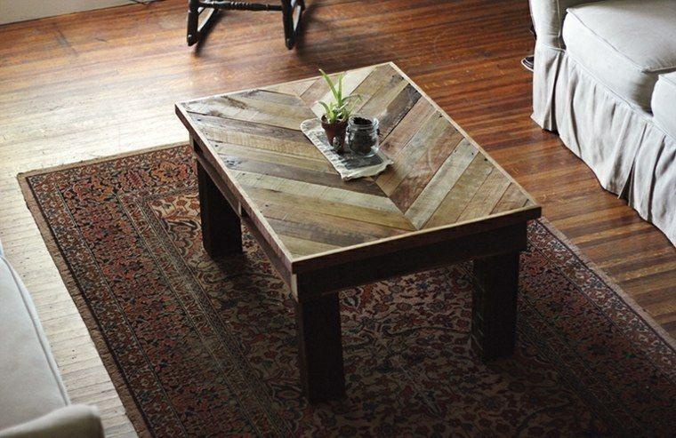 mesilla salon diseño palets madera