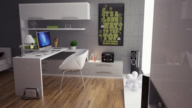 mobiliario blanco llamativo cartera sillas
