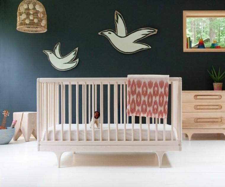 mobiliario infantil cuna armario madera ideas