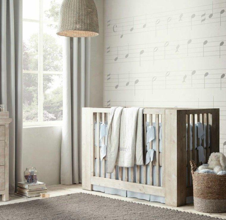 mobiliario infantil estilo rustico cuna madera ideas