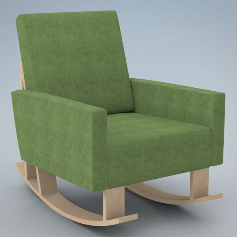 muebles bebe sillon balanceante verde ideas