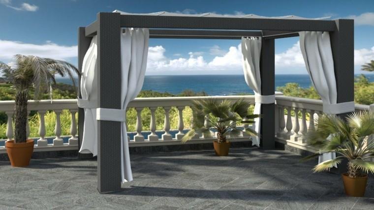 modelado macetas tridimensional balcon muestra