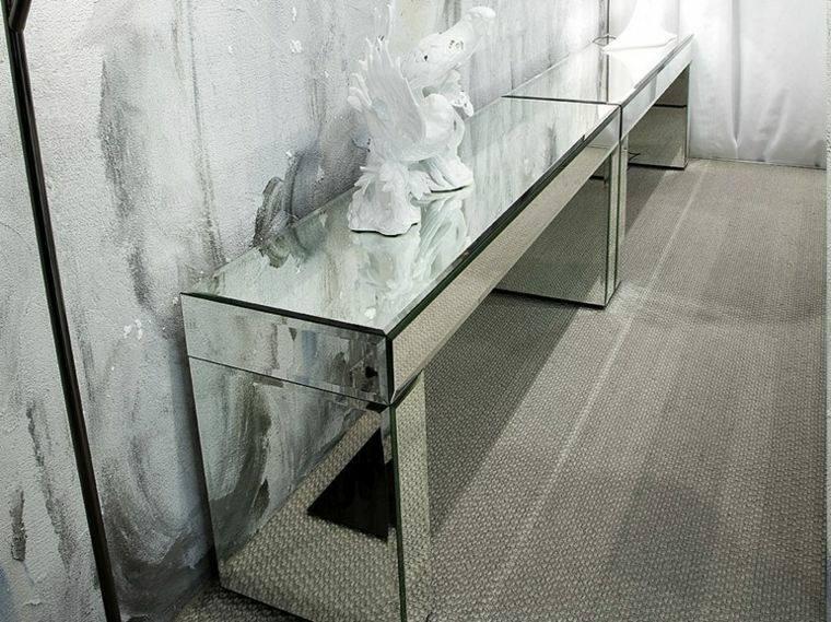 moderna alfombra atractiva escultura espejo