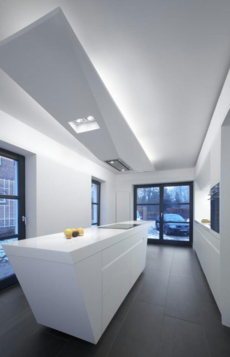 moderna elegante cocina casa led