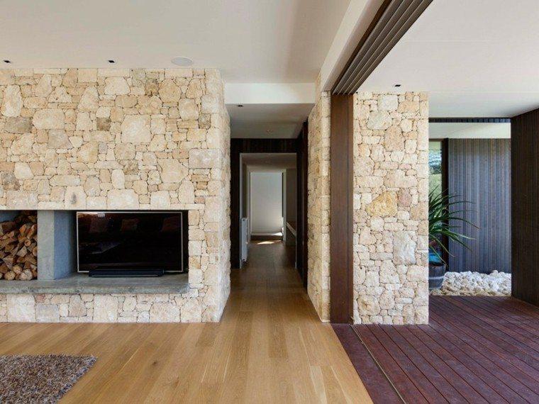 moderno casa decoracion madera rocas