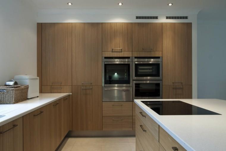 moderno diseño cocina madera