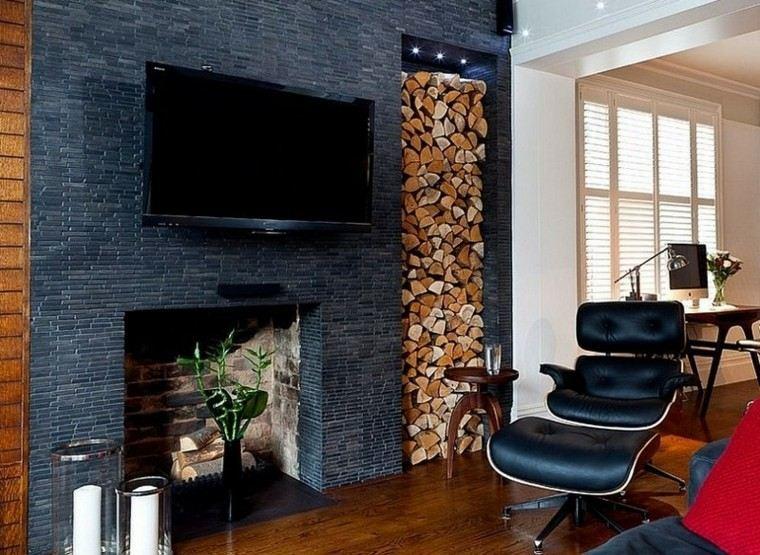 moderno salon pequeño cuero vertical