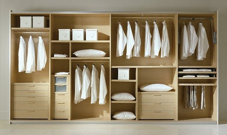 modulo vestidor madera laminada clara