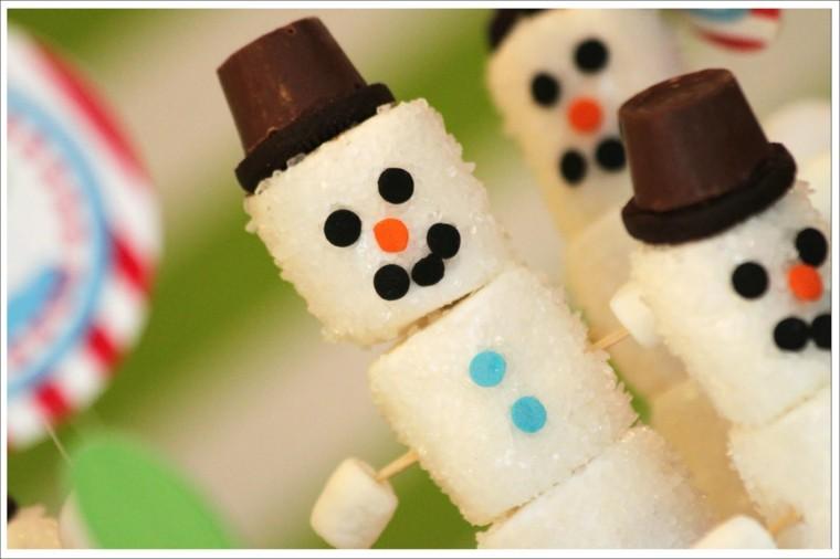 muñecos nieve minimalista caramelos verde