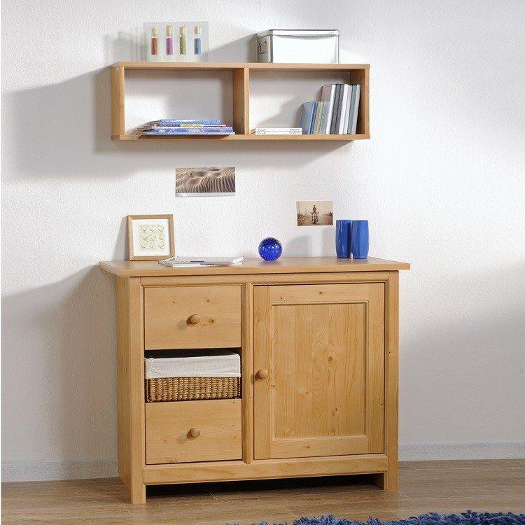 mueble comoda madera estantes