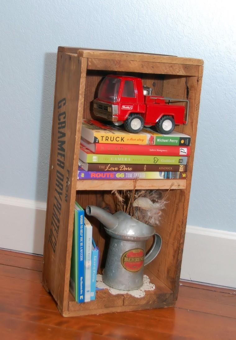 mueble estantes caja frutas caja de frutas retro usada como