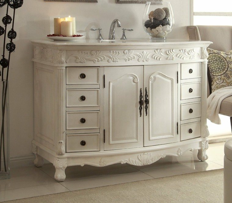 Decorar ba os con muebles de ba o y accesorios vintage for Muebles estilo clasico