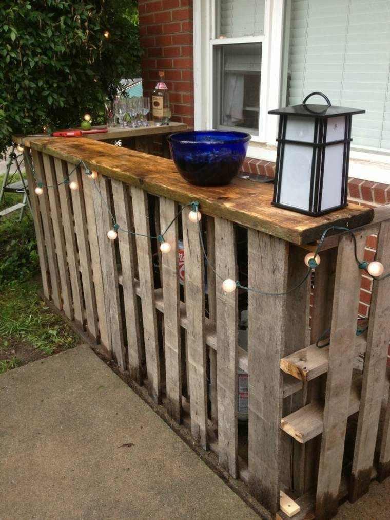 Cajas de madera usadas para fabricar muebles 75 ideas - Construire un bar en palette ...