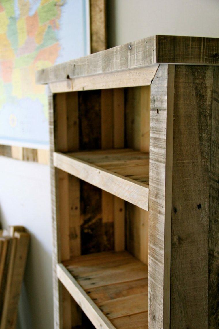 Cajas de madera usadas para fabricar muebles 75 ideas - Mueble salon palets ...