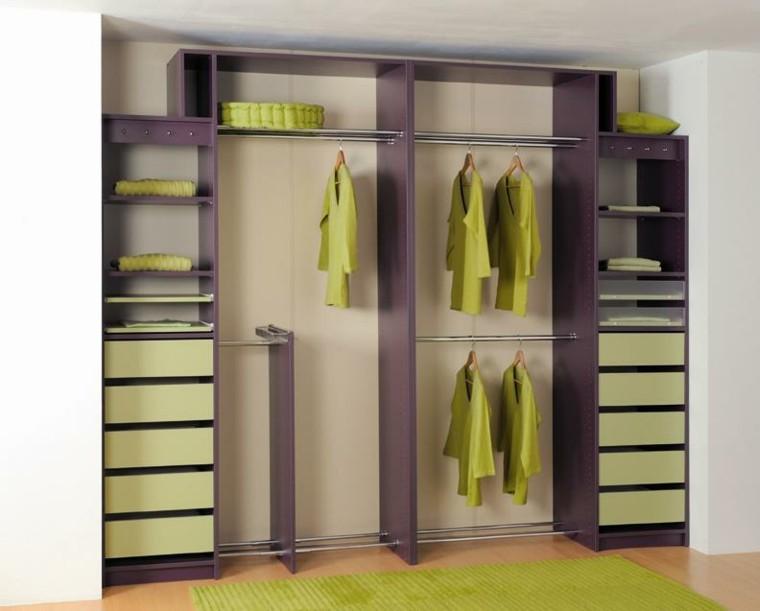 mueble vestidor ropa verde modulo