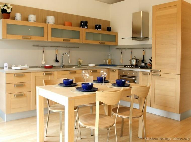 conjunto mueble cocina madera roble
