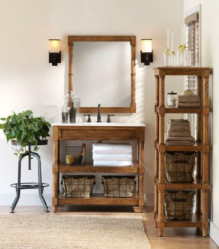 Muebles para ba o estilo rustico for Estilos de muebles de madera