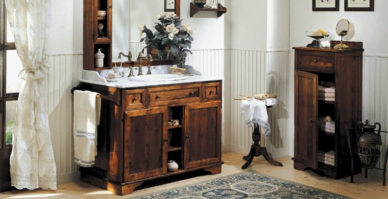Baños rusticos madera ~ dikidu.com