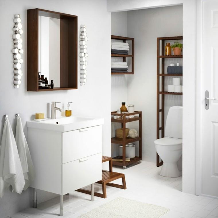 estantes baño madera laminada