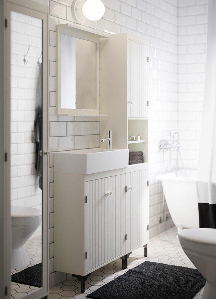 muebles blancos azulejos blancos